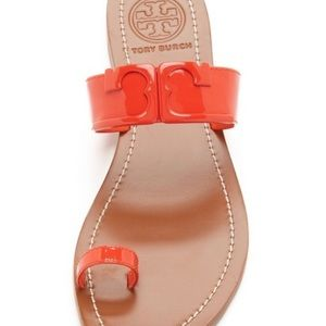 Tory Burch Toe Ring Patent Leather Sandal